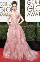 lily collins - zuhair murad (gioielli harry winston)